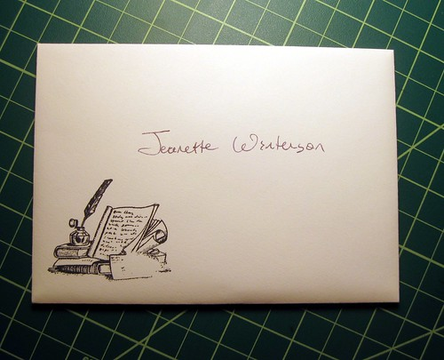 A letter for Jeanette Winterson, hand-delivered