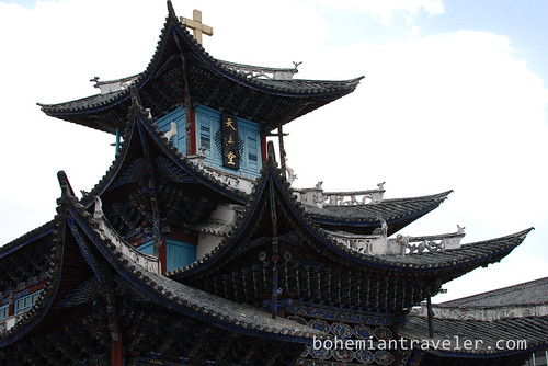 roof of Catholic Church in Dali Yunnan China