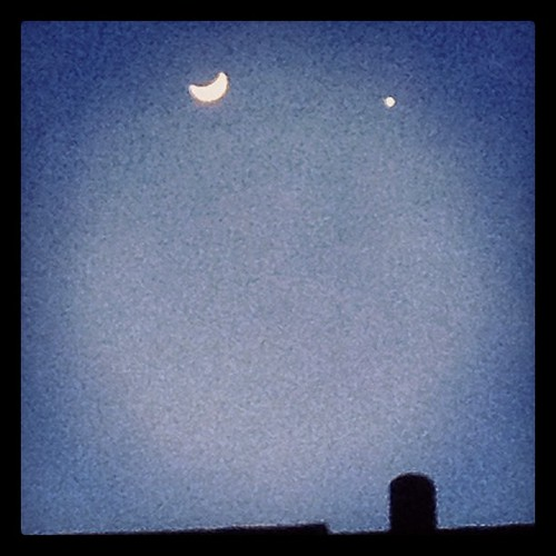 The moon & Jupiter.