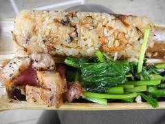 改良過的泰雅竹筒飯,更符合和人口味。