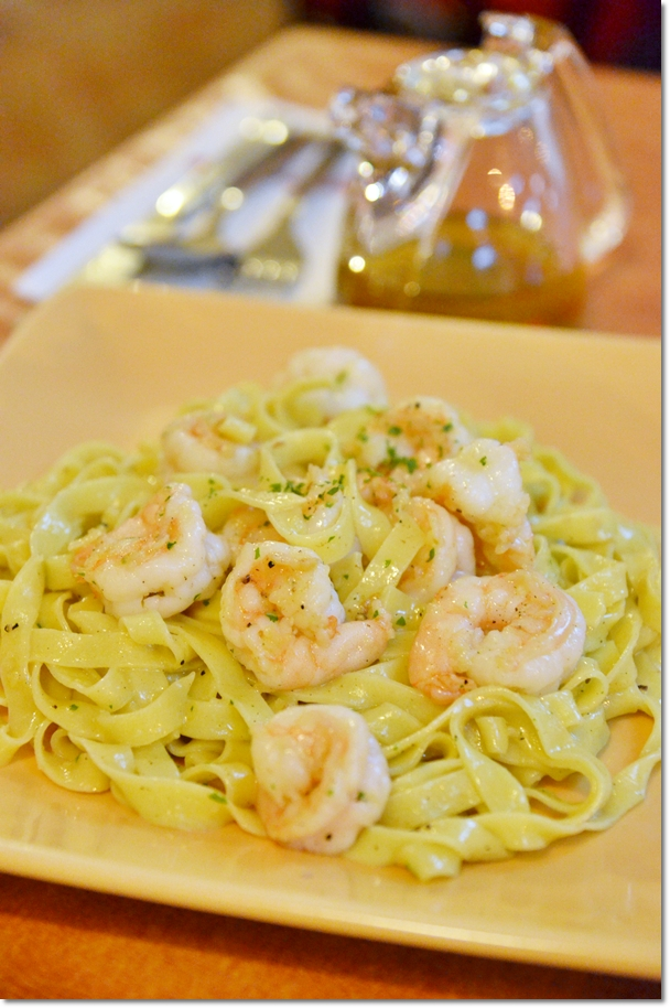 Fettucine with Prawns