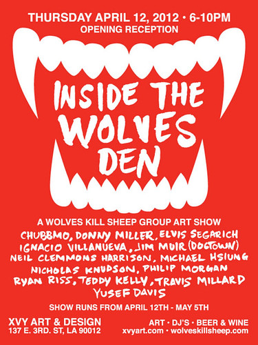 INSIDE THE WOLVES DEN GROUP ART SHOW by Michael C. Hsiung