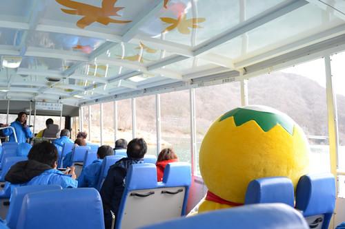 湯西川温泉「水陸両用バスツアー 」学べて斬新。ちょっとスリリング