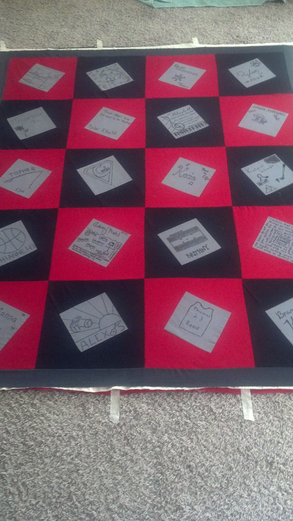 Auction quilt basted