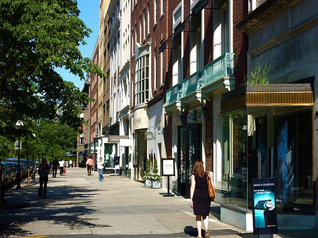 Newbury Street in August, credit Tim Grafft/MOTT