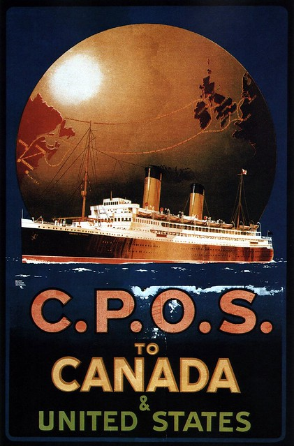 Harry Hudson Rodmell. CPOS to Canada & United States. 1920