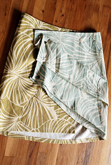 pleats wraparound skirt