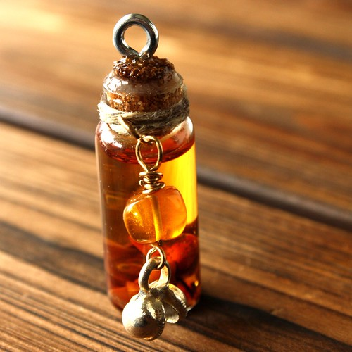 Artist's Creative Fire and Success Spell Bottle Pendant