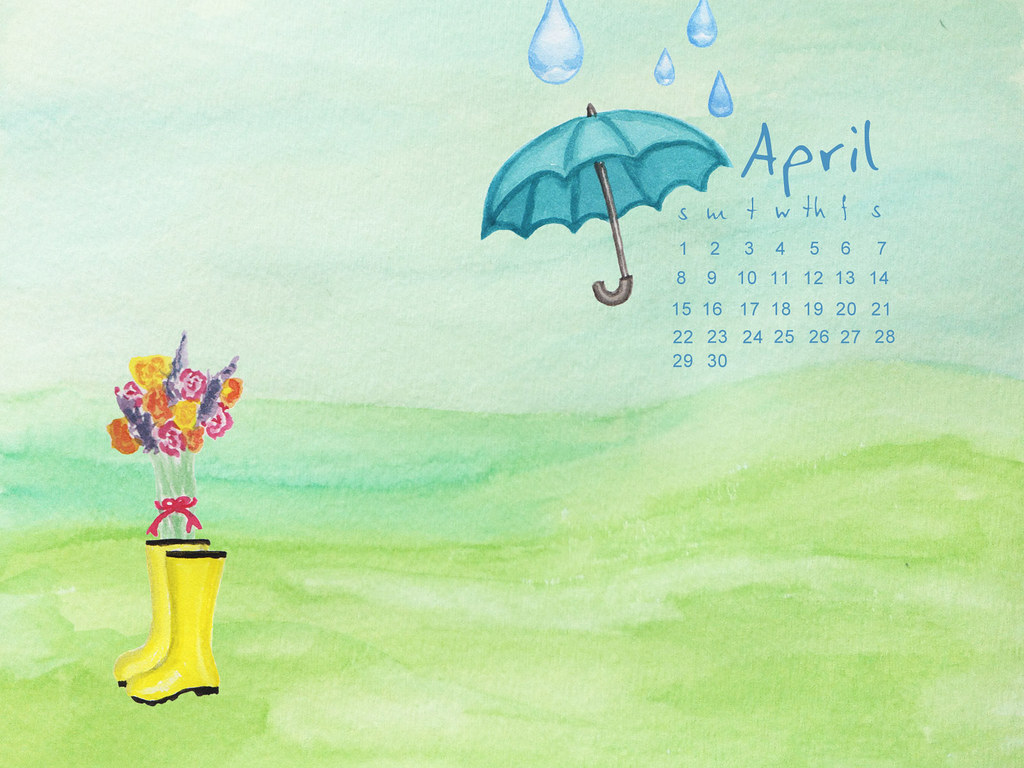 April Calendar Background : Paper harbor april calendar background
