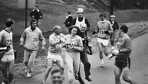 Una de las primeras mujeres en correr una maratón (Boston, 1967)