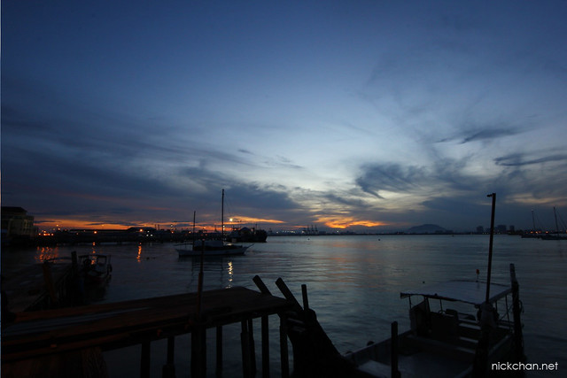 Sunrise At Chew Jetty, Penang