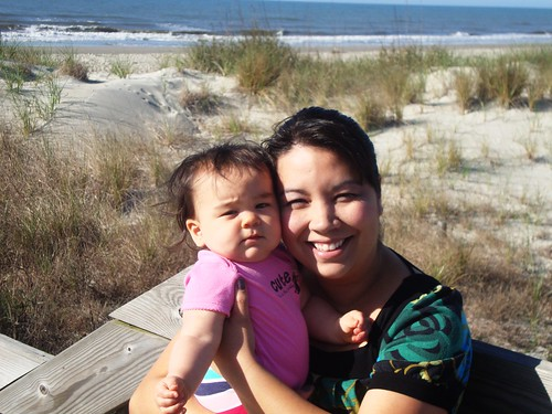 Izzy and Mommy on the Beach