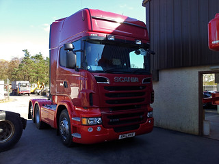 Dingwall Panel Beaters New Steven Scania R 560 6x2 Tag