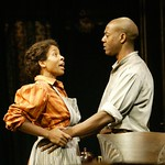 LisaGay Hamilton (as Black Mary) and John Earl Jelks (as Citizen Barlow) in the Huntington Theatre Company's production of August Wilson's