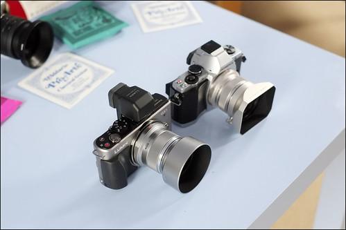 OLYMPUS OM-D EM-5 12mm f/2 lens PANASONIC GX1 45mm f/1.8 lens