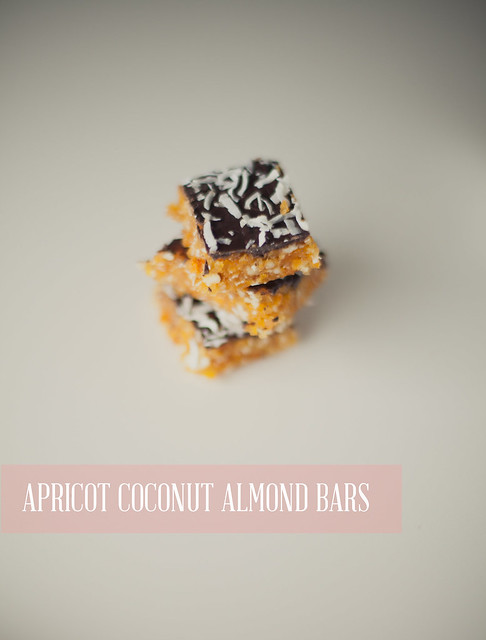 apricot coconut almond bars
