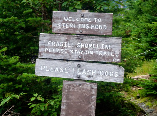 Sterling Pond Trail Sign