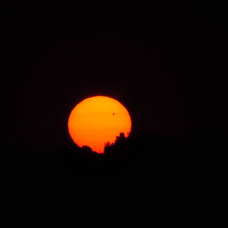 Venus Transit at Sundown