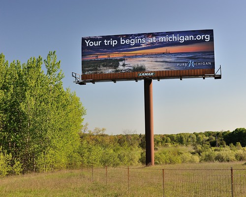 "2012 ""Pure Michigan""  Mackinac Bridge Billboard"