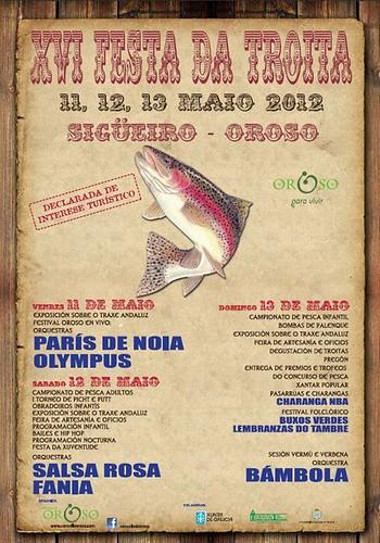 Oroso 2012 - Festa da Troita de Sigüeiro - cartel 2