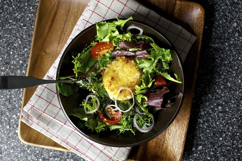 warm, crisp and a little melty salad croutons | smitten ...