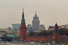 Vue sur le Kremlin et le Ministère des Affaires étrangères depuis le Pont Bolshoy Moskvoretsky