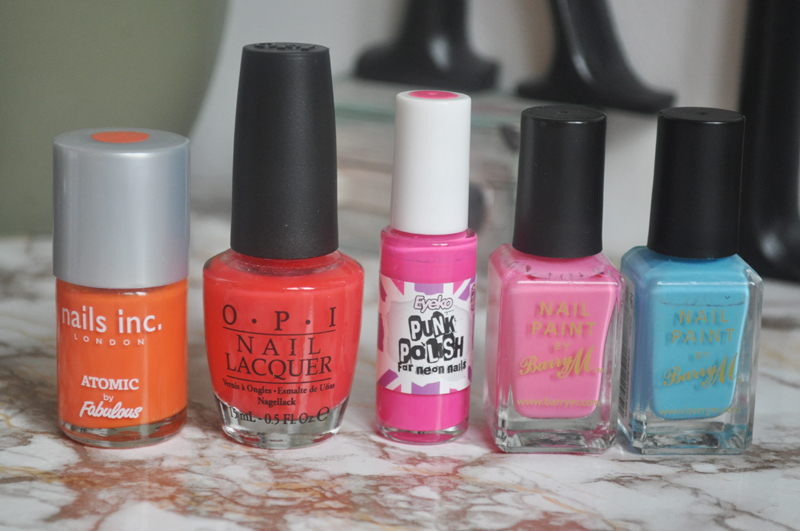 top 5 bright nail polishes opi barry m orly