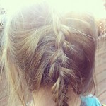 little girl french braid photo
