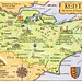 Postcard map of Kent, the Garden of England by Alwyn Ladell