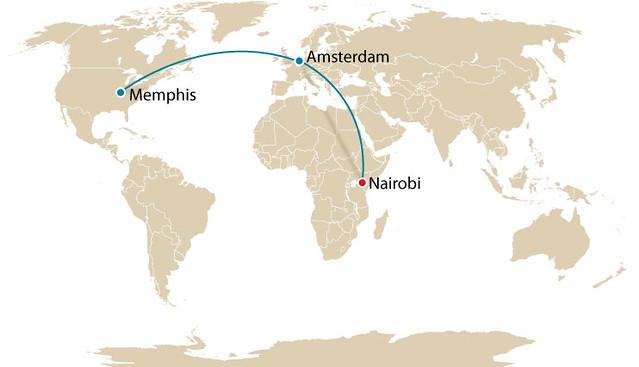 Amsterdam to Nairobi