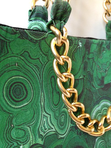 Malachite + Gold Shoulder Bag 37