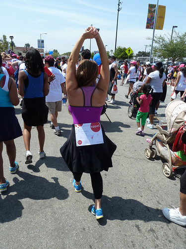 ROBIN ARCURI- WEARING ALO-REVLON WALK 2012