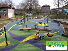 outdoor play equipment, yard, lawn, public space, playground, park,