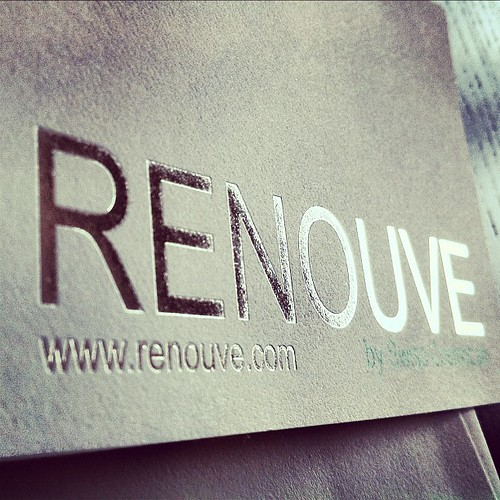 Silver foil suite for Renouve by Swiss CosmoLab