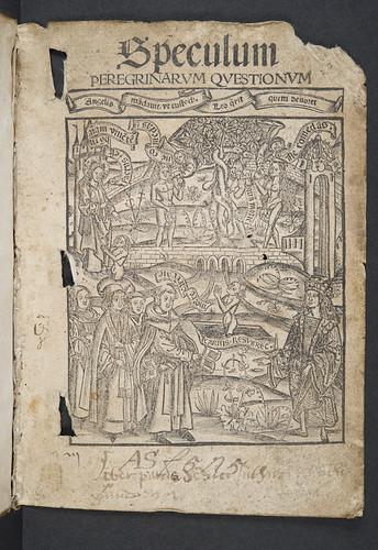 Illustrated title-page of Sibylla, Bartholomaeus: Speculum peregrinarum quaestionum
