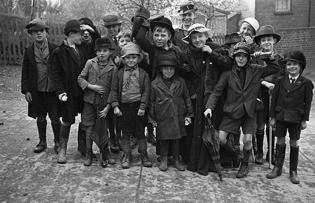 Boys of Newtown Church School after their rummage sale
