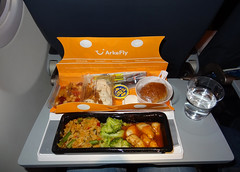 ArkeFly airline meal.