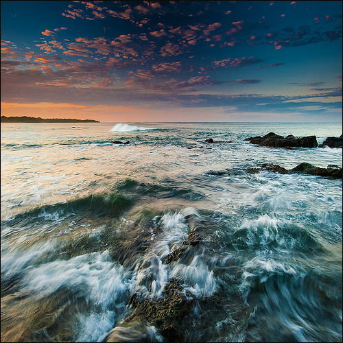 ocean travel nature sunrise costarica rocks waves pacific tamarindo waterscape