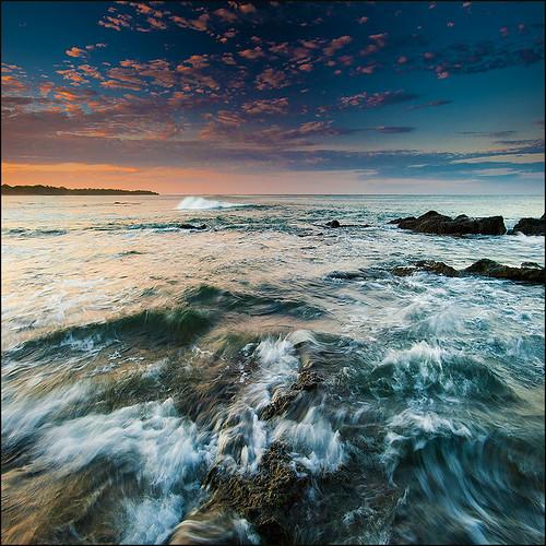 ocean travel nature sunrise costarica rocks waves pacific tamarindo waterscape