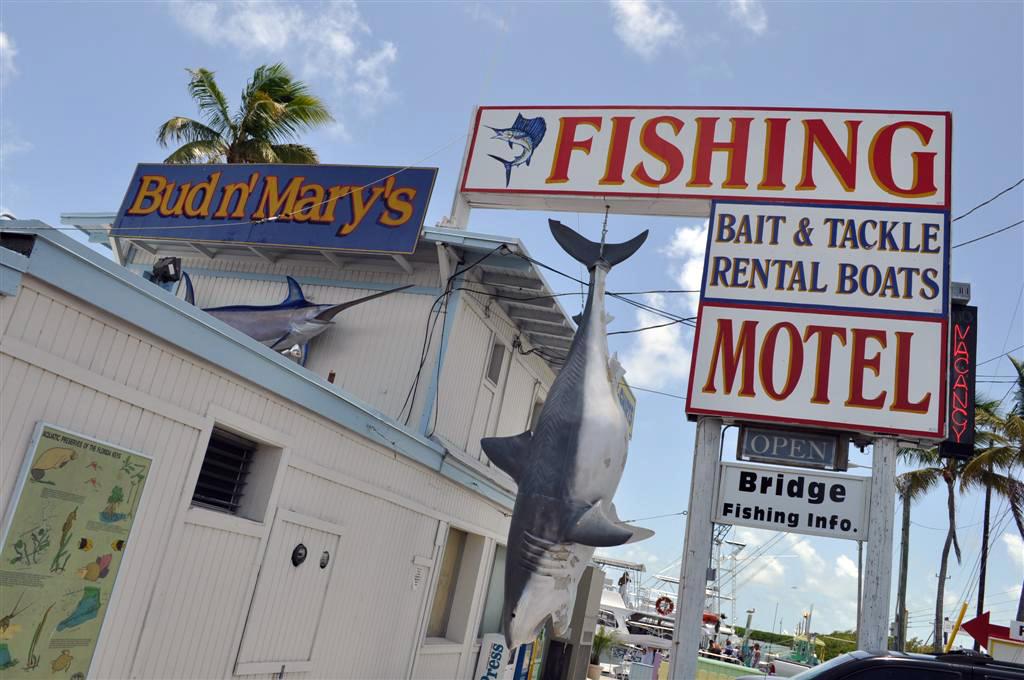 Motel en el puerto a la salida de Key Largo donde se ofrecen excursiones de pesca deportiva florida keys, carretera al paraíso (mejor con un mustang) - 7214476532 462b82ba04 o - Florida Keys, carretera al paraíso (mejor con un Mustang)