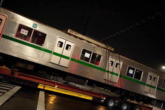 東京メトロ千代田線 6000系 6123F 6823号車 陸送