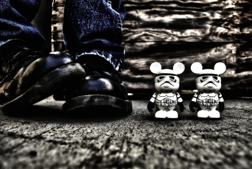 portrait self dark toy starwars nikon stormtroopers disney mickeymouse stormtrooper d200 hdr odc makemineadouble explored vinylmation ourdailychallenge hbmike2000