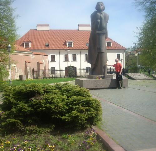 Statue of Adam Mickiewicz, Vilnius by xpisto1