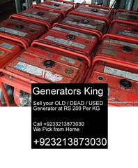 used_generator_open_type_with_gasoline_Karachi Pakistan