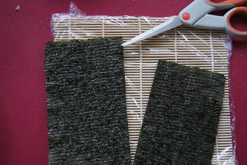 Homemade Sushi - cut seaweed