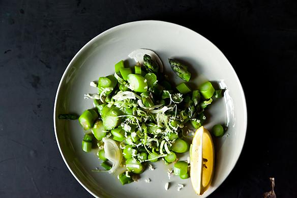 Asparagus, Young Garlic, and Horseradish