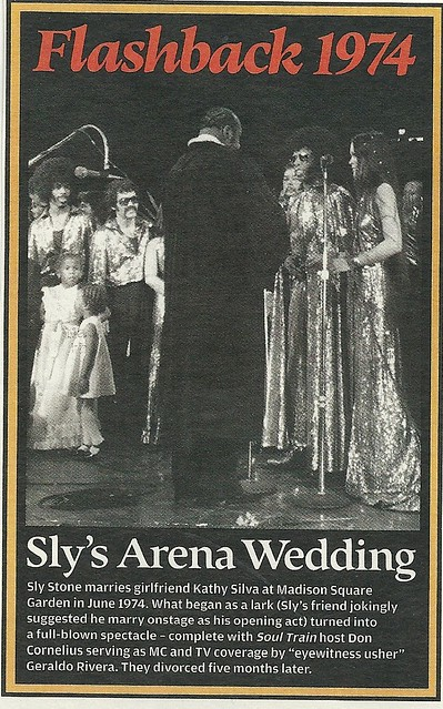 June 1974 New York City: Sly Stone Married at Madison Square Garden (Rolling Stone 05/19/05)