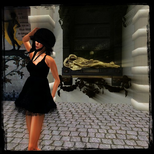 xxYomeshouojoxx (LB)*iria dress* navyblack by Cherokeeh Asteria