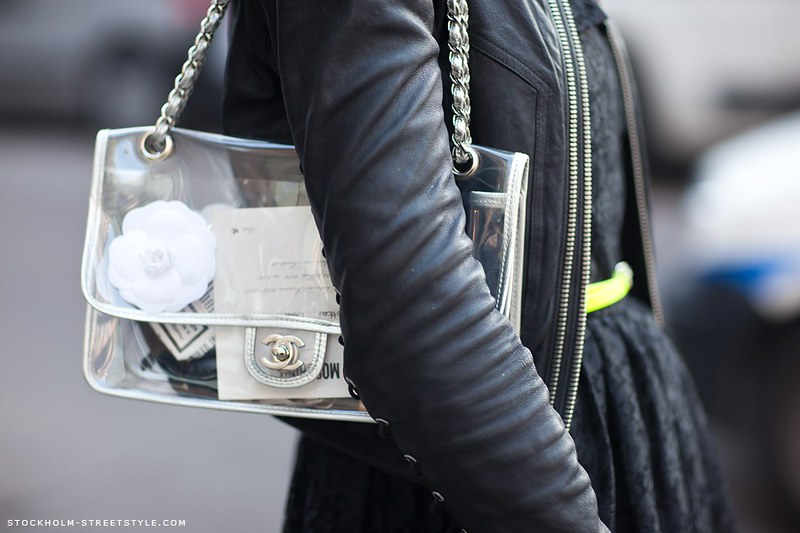 Stockholm Streetstyle transparant Chanel