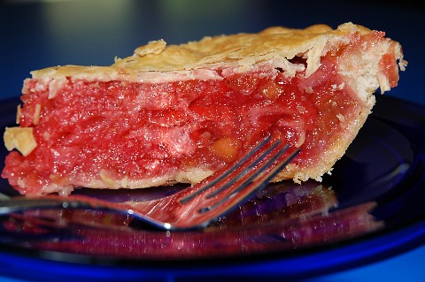 Strawberry Rhubarb Pie by Frums Glass Menagerie